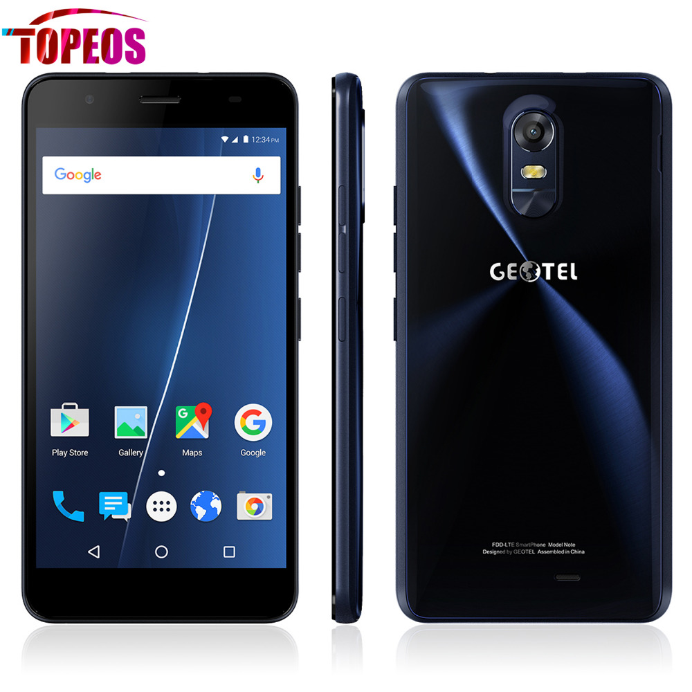 New Geotel Note 5.5 inch 3GB RAM 16GB ROM Smartphone Quad Core Android 6.0 MT6737 with Free Silicone Case