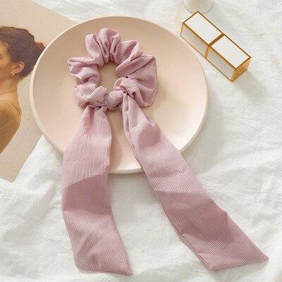 Модный летний шарф «конский хвост», эластичная лента для волос для женщин, бантики для волос, резинки для волос, резинки для волос с цветочным принтом, ленты для волос - Цвет: 06
