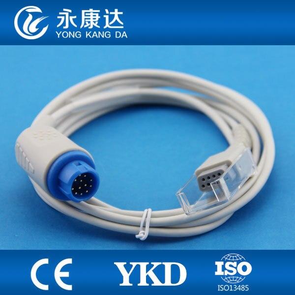 2pcs/lot PM5000 spo2 extension cable, 12pin > DB9, Medical TPU,  free shipping!2pcs/lot PM5000 spo2 extension cable, 12pin > DB9, Medical TPU,  free shipping!
