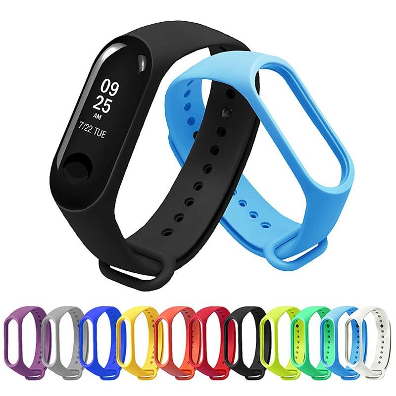 Strap Mi Band 3 Sport Bracelet Watch Soft Silicone Wrist Strap For Xiaomi Miband3 Accessories On Xiomi Miband 3 Mi3 Miband Strap