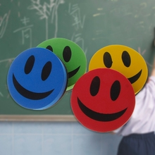 Smiley Magnetic Whiteboard Dry Wipe Drawing Board Cleaner Eraser School Office Blackboard eraser free shipping 2017 wood magnetic blackboard dry wipe chalkboard office supplier 20 30cm factory direct sell home decorative