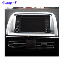 Car garnish cover detector ABS chrome Center Console Navigation box Interior GPS trim For Mazda CX-5 CX5 2013 2014 2015 2016