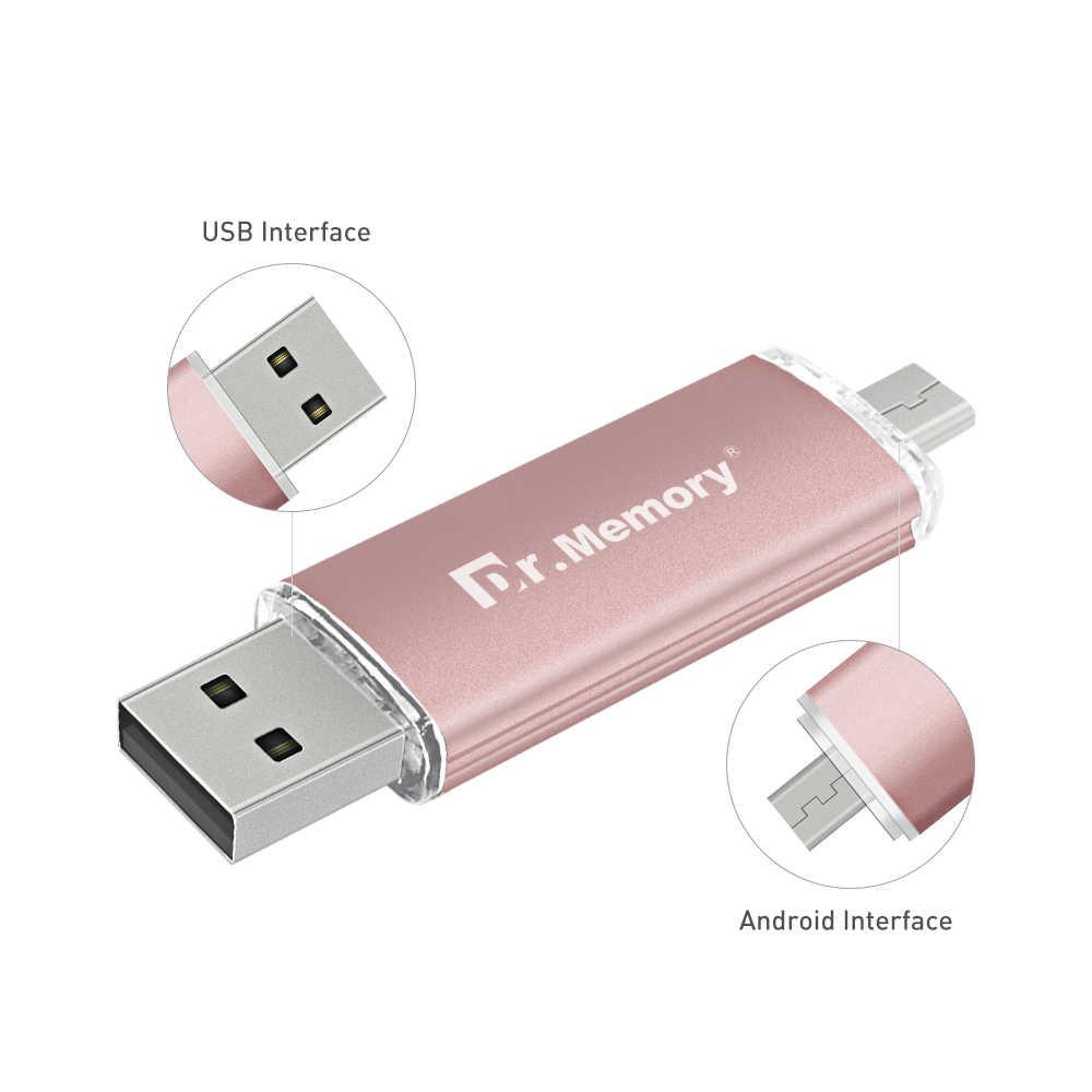 El dr. memoria USB OTG USB Flash Drive 1 GB 2GB 4GB 8GB 16GB 32GB 64GB Pen Drive 128GB Pendrive micro USB para Samsung teléfono Android Stick