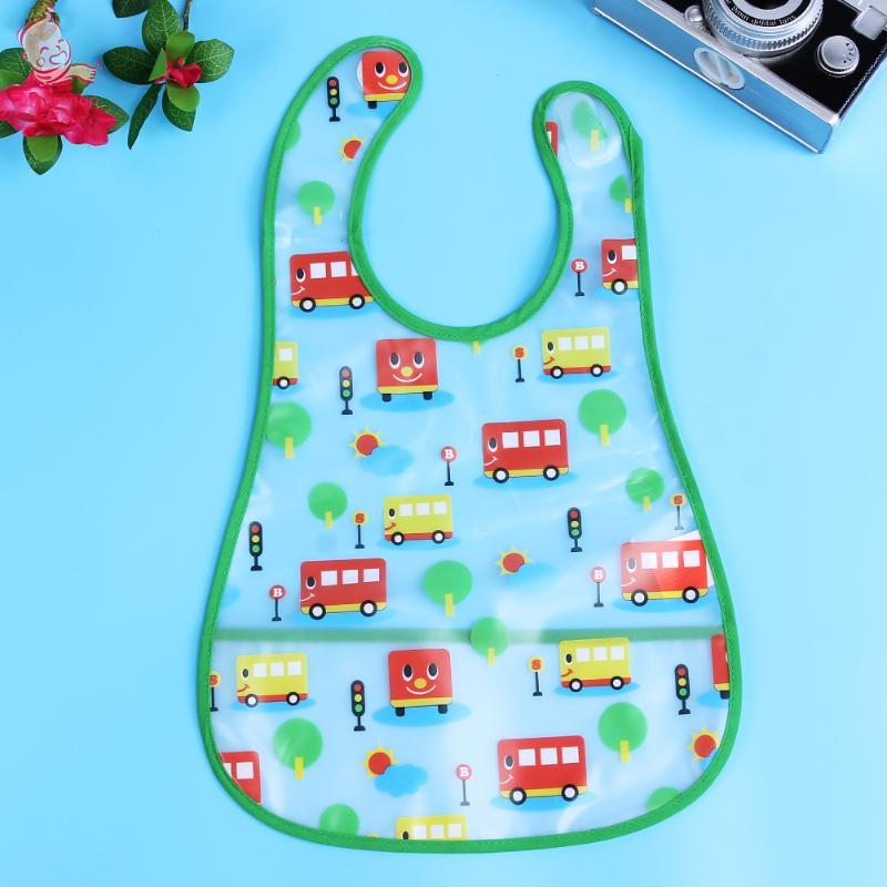 2018 Newest Girls Boys Baby Feeding Bibs Waterproof Apron Cartoon Towel Bid Apron for Feeding Bandanas Burp Cloths Scarf