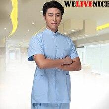 Pakaian Lelaki Perubatan Odontologia Pakaian Doktor Gigi Pendek Lengan Pendek Lelaki # 6222