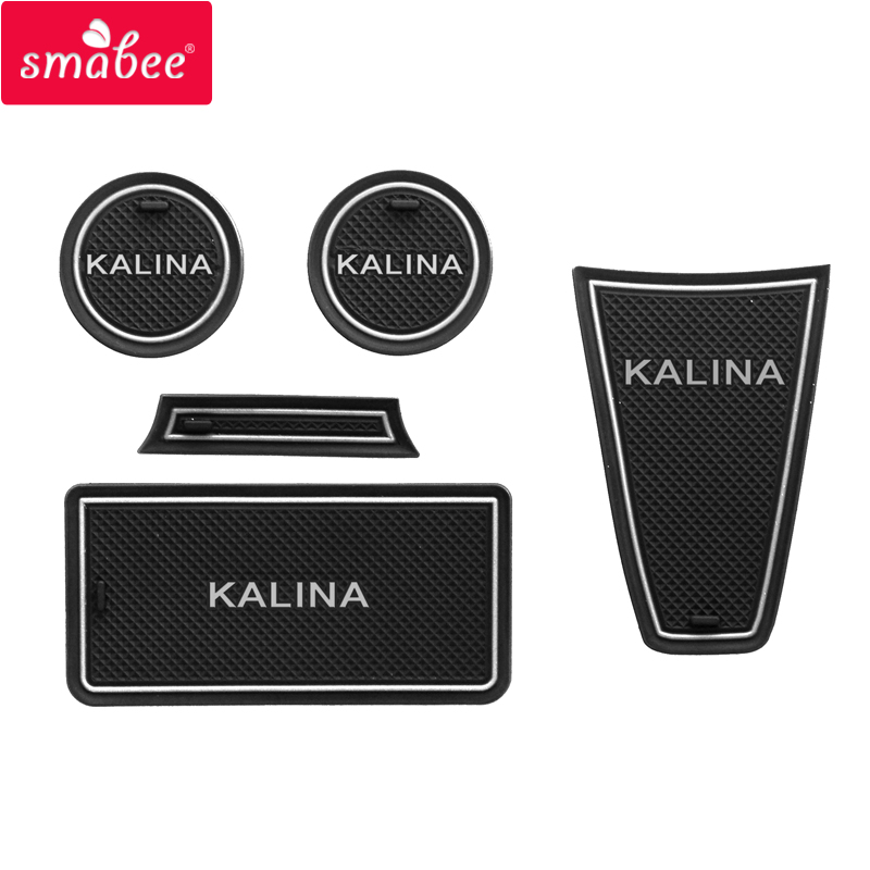 smabee Car Door Groove Mat for For Lada Kalina Non slip Mats Interior Door Pad Cup RED BLUE WHITE