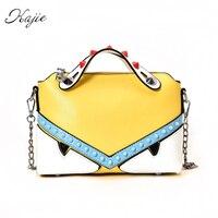 Kajie Monster Bag Luxury Handbags Women Bags Designer Summer Candy Color Tote Chain Rivet Small Crossbody