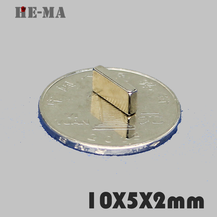 imanes 50Pcs 10x5x2 Neodymium Magnet Permanent N35 NdFeB Super Strong Powerful Magnetic Magnets HE MA Disc 10mmx5mmx2mm in Magnetic Materials from Home Improvement