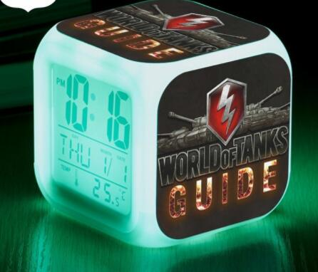 7 Color Flash Digital <font><b>clock</b></font> World of Tanks LED <font><b>Alarm</b></font> <font><b>Clock</b></font> Game Character reloj despertador Luminous Watch <font><b>Boys</b></font> Girls Xmas Gifts image