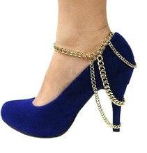 Цепь панк винтажный марка аксессуары ножные браслеты CA001 купон