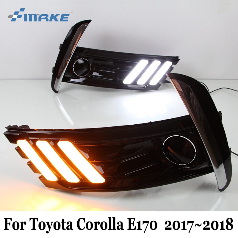 Smrke Drl For Toyota Corolla E170 2016 2018 Car Led