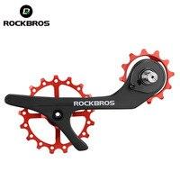 ROCKBROS Bike Carbon Fiber Bike Rear Derailleur 11 Speed Pulleys Ultralight Jockey Wheel Set for Shimano 9100 9150 R8000 R8050
