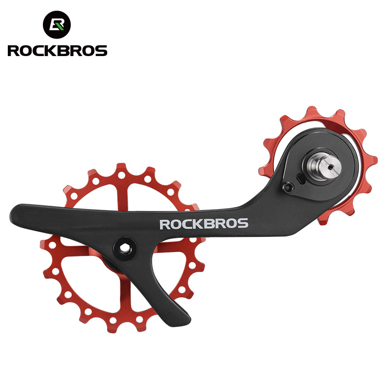 ROCKBROS Bike Carbon Fiber Bike Rear Derailleur 11 Speed Pulleys Ultralight Jockey Wheel Set for Shimano 9100 9150 R8000 R8050