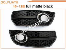 GOLFLIATH 1 Pair Q5 change to SQ5/RSQ5 Chrome Front Lower Bumper Grill Fog Light Lamp Grille Cover For AUDI Q5 2009 2010 2011(China)