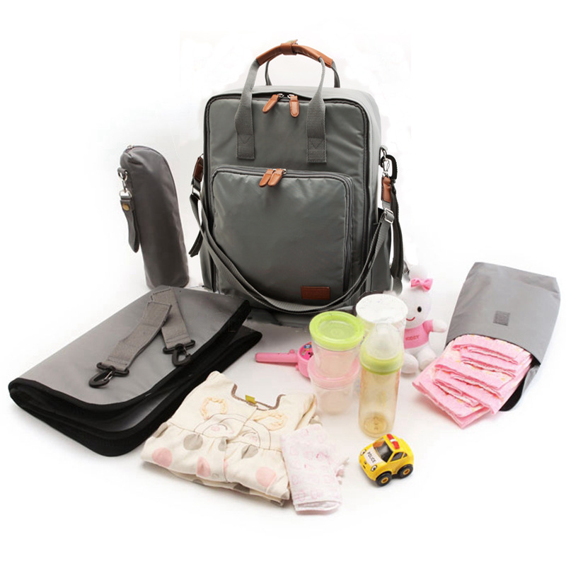 Large-capacity multi-function Mummy bag fashion pregnant mother and baby out of the maternity mother backpack bottle bag the good mother