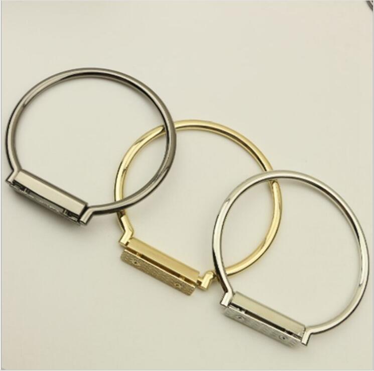 6 Piece Size 9.2 CM Fashion MEtal-Accessories-For-Handbags Metal Purse Handle Bag Frame Hanger Wholesale Metal Bag Handle