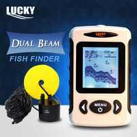 LUCKY FF718D Portable LCD Fish Finder Fish Detector Depth Locator 200KHz 83KHz Dual Sonar Frequency 100M