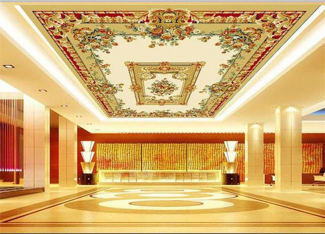 carpet ceiling pattern painting 3d mural woven sticker non custom hotel living ktv wallpapers mouse zoom aliexpress
