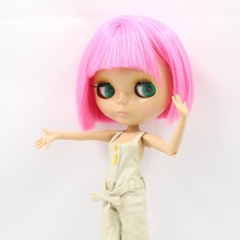 Factory Neo Blythe Doll Short Pink Hair Tanned Skin Joint Body