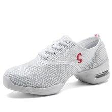 Hip Hop Shoes Woman Dancing Shoe jazz Practice Cushioning Ladies Sport Breath Fitness ayakkabi White Women Sneakers 7.5