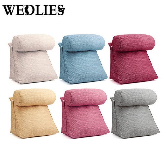 Adjule Back Wedge Cushion Pillow Triangle Neck Support Pad Sofa Bed Office Chair Rest