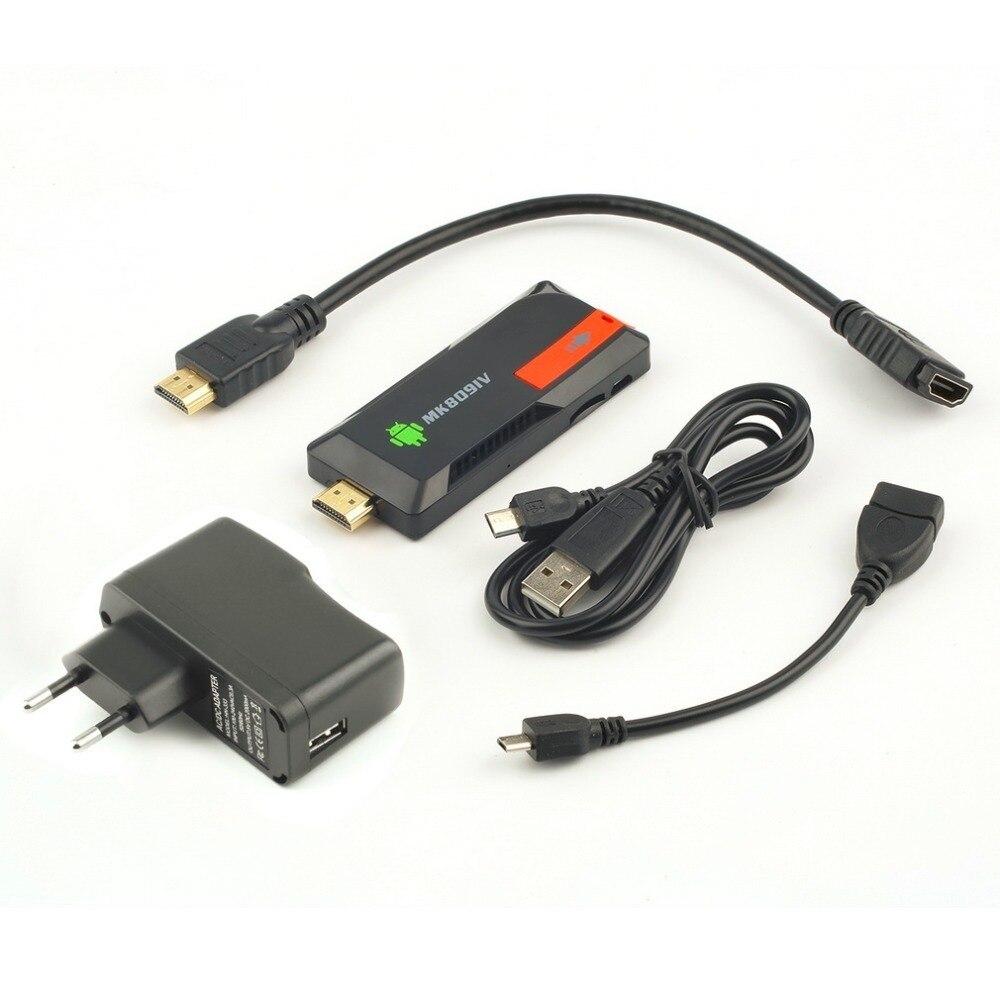 1 pc MK809IV Smart TV 2 GB 8 GB Android TV Box sans fil HDMI Dongle pour Android Mini PC Quad Core RK3188T WIFI TV Stick
