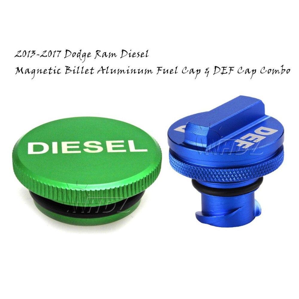 Diesel Billet Aluminum Fuel Cap Magnetic Green For Dodge Ram Cummins 2013-2017 @