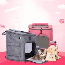 Premium Quality New Nylon Material Foldable Pet Carrier Bag  Backpack with Mesh for Small Dogs Cats Puppies Dog Fashion