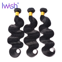 Iwish Body Wave Hair Brazilian No Remy Hair Natural Black Color 100 Human Hair Weave Bundle