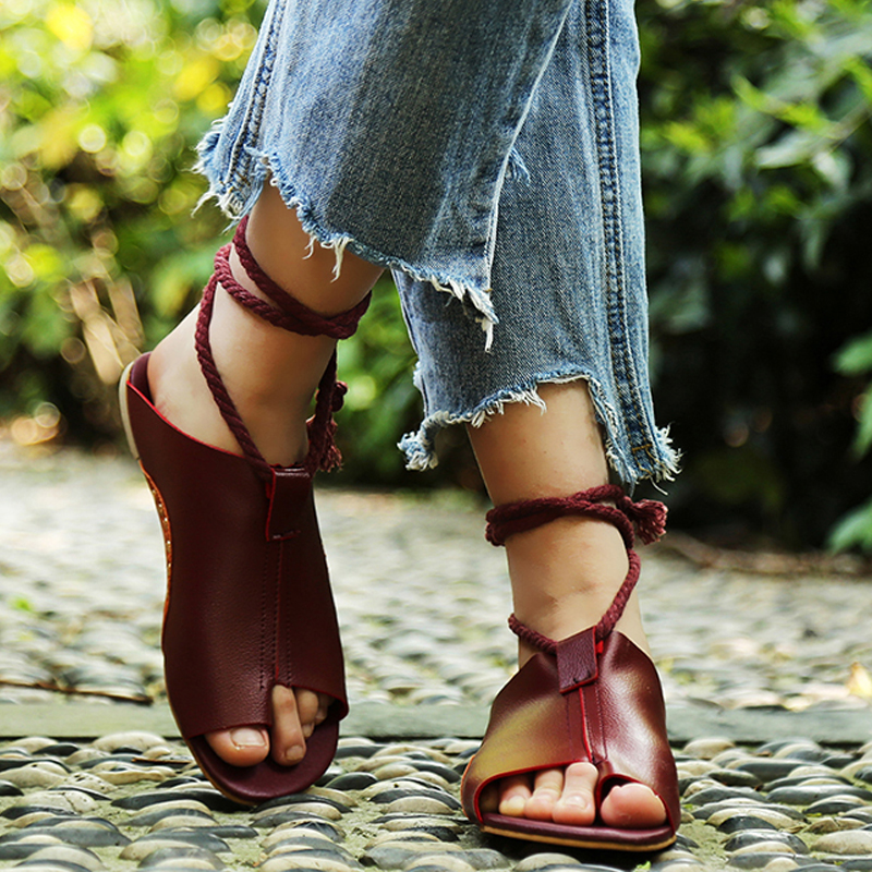 Flats shoes leather gladiator zapatos mujer summer sandals women ankle strap femme sandale 2018 slippers beach flip flops 2016 flower women sandals flat flip flops bohemian gladiator sandals women summer style fashion beach slippers zapatos mujer