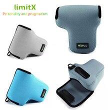 LimitX Neoprene רך עמיד למים פנימי מצלמה מקרה כיסוי תיק עבור Panasonic Lumix DC GX9 GX9 עם 12 60mm 14  140mm עדשת מצלמה