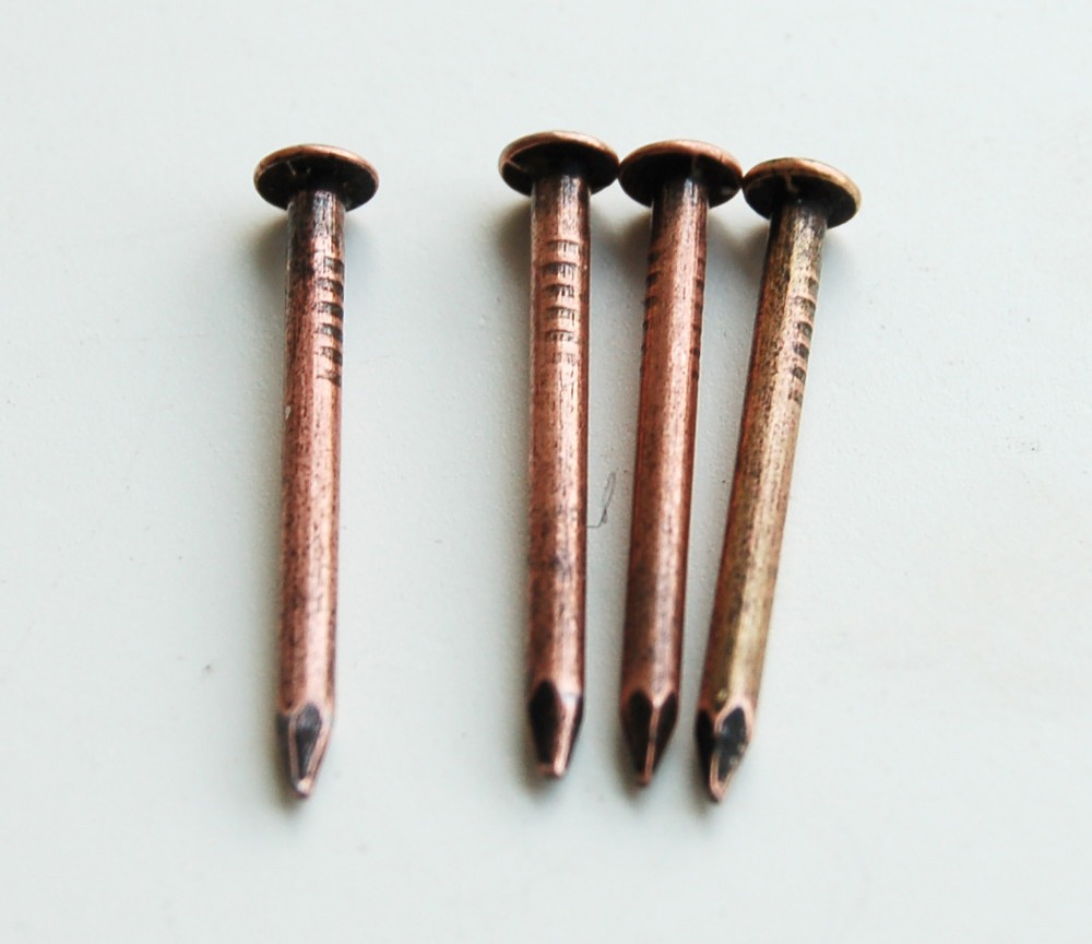 Us 9 99 50pcs Of 15mm Brass Nails Pins For Chinese Wooden Furniture Hardware Cabinet Trunk Closet Trunk In Nails From Home Improvement On