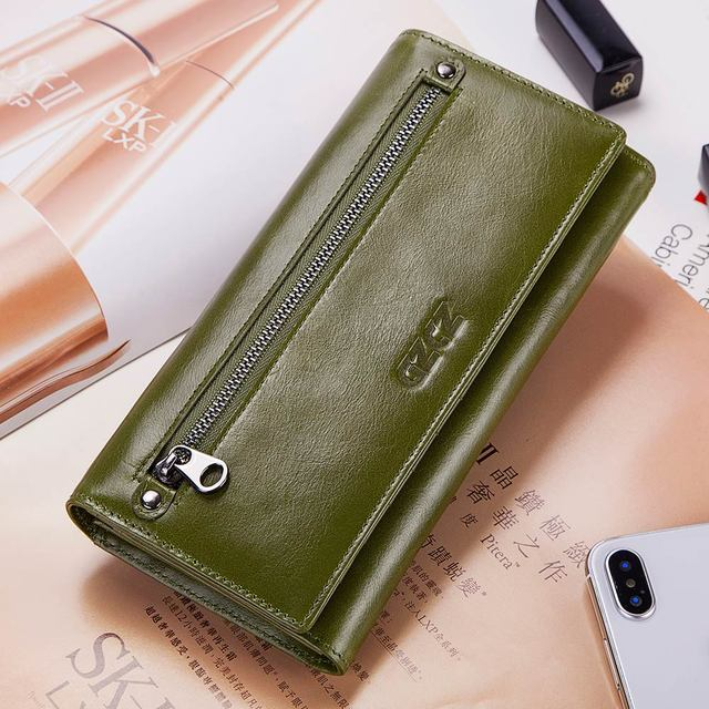 GZCZ RFID Genuine Leather Wallet/Clutch