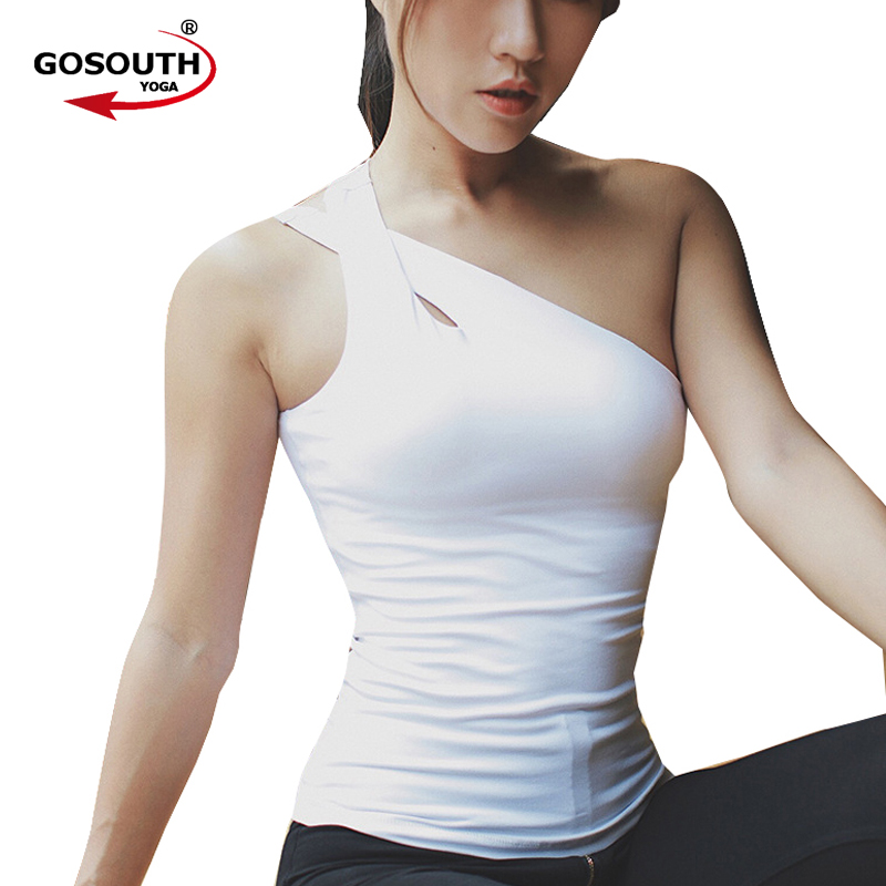 купить New Sexy Women Tank Top Gym Fitness Vest Women's Workout Sleeveless Sports T-Shirts Exercise Yoga Vest Top G-412 по цене 1189.96 рублей
