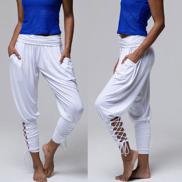 d881e2a604b 2018 Brand New Women s Ladies Soft Pleated Bandage Trousers Plus Size  Summer Pants Casual Holiday Beachwear Chinos