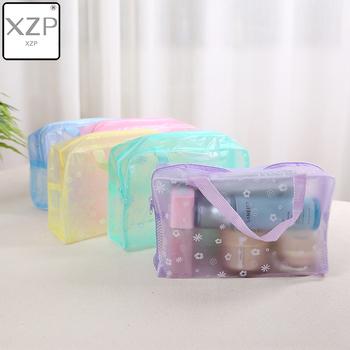 XZP 2019 nowych moda wodoodporne przenośne akcesoria do makijażu kosmetyczne toaletowe podróży makijaż kosmetyczne mycia szczoteczki do zębów etui organizator torba tanie i dobre opinie 15 5cm Floral 23 cm Sprawy kosmetyczne zipper Lady X19HZB-061