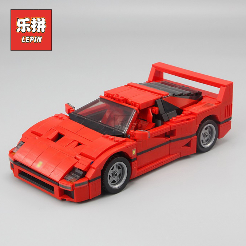 Lepin 21004 Technic the Red Sports Car F40 Compatible 10248 Model Building Blocks Kids Toys Gifts Lepin City Speed Champions 21004 1157pcs technic series f40 sports car building blocks set bricks educational toys for kids gifts compatible with 10248