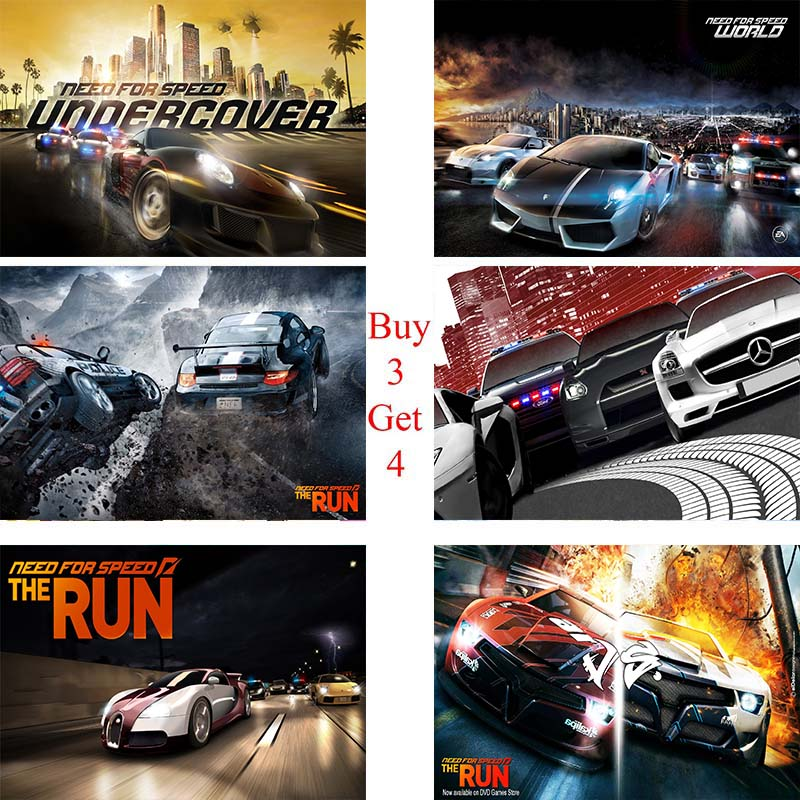 Need For Speed Classic games Coated paper poster Cafe Creative wallpaper Interior Decoration image