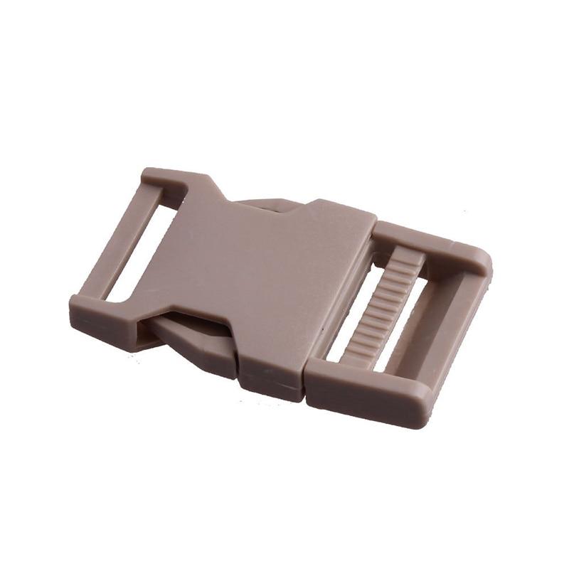 Лямки швейные инструменты собачьи ремни пряжки двойные регулируемые Крючки для рюкзака Высокое качество 1 шт. 25 мм популярная пластиковая пряжка безопасности - Цвет: Светло-коричневый