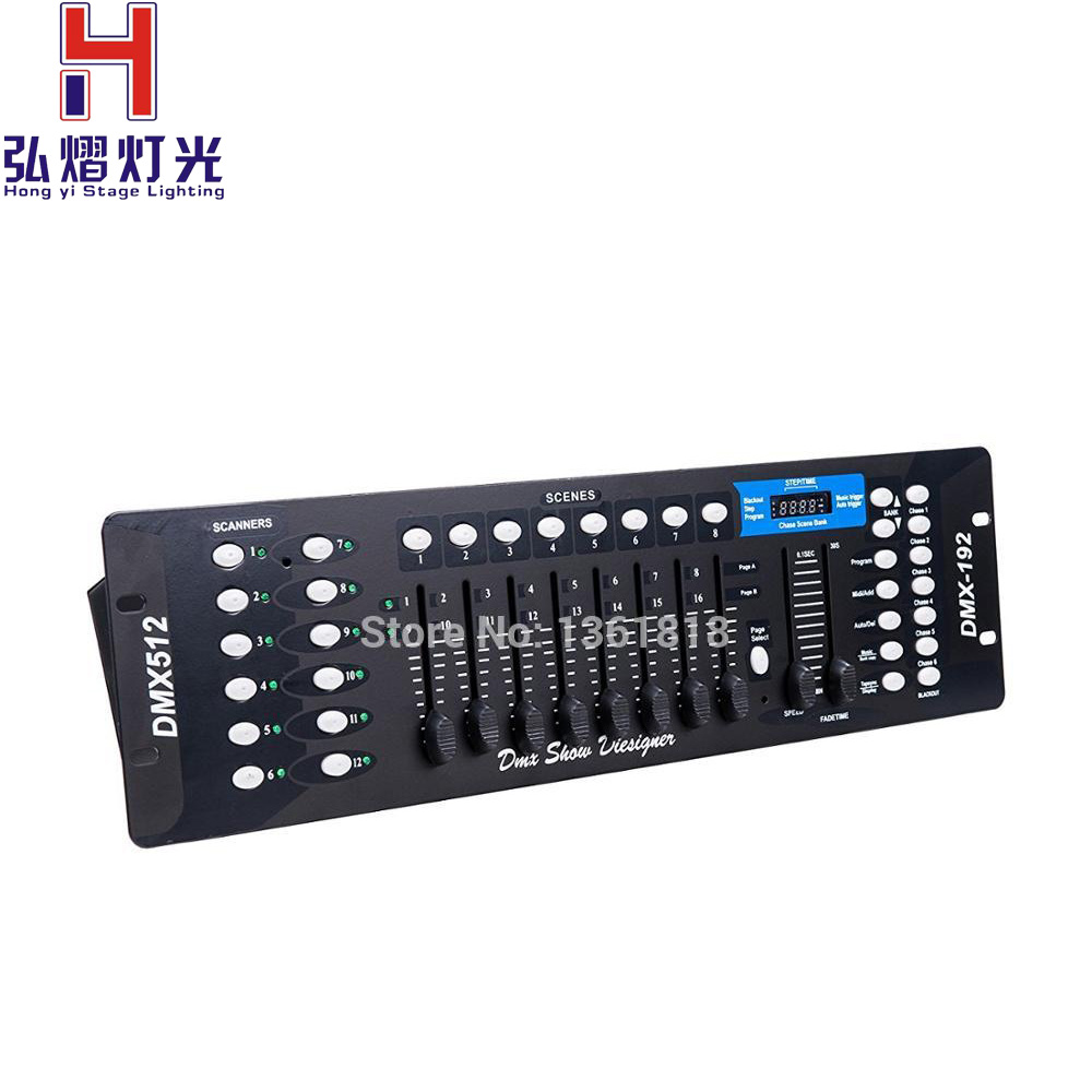 Hong Yi Stage Lighting Top-selling New 192 dmx controller stage light 512 dmx console dj controller equipment 6psc top stage