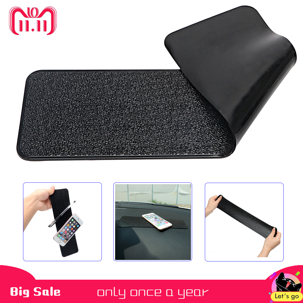 26bc8a8f383 Large Long Car Dashboard Sticky Pad Non-Slip Mat Gel Magic Anti-slip Mat  For Phone Key GPS Tablet Holder Car-styling PU Leather