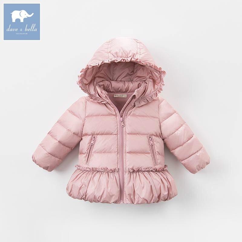 4467f1fb8be2 DBM6508 dave bella winter baby girls down jacket children 90% white ...