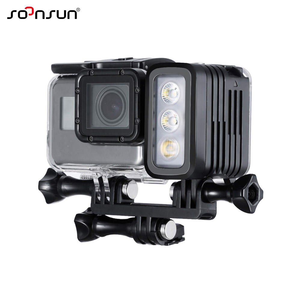 Image 4 - SOONSUN 50M Waterproof Underwater Diving LED Light w/ AHDBT 401 Dual Battery Spot Lamp for GoPro HERO 3 4 5 6 7 Go Pro Accessory-in Sports Camcorder Cases from Consumer Electronics