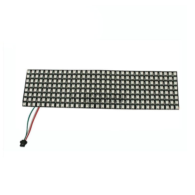 цена на 1X WS2812B full color led display screen 8*32 Pixels flexible 330*90mm matrix LED display free shipping