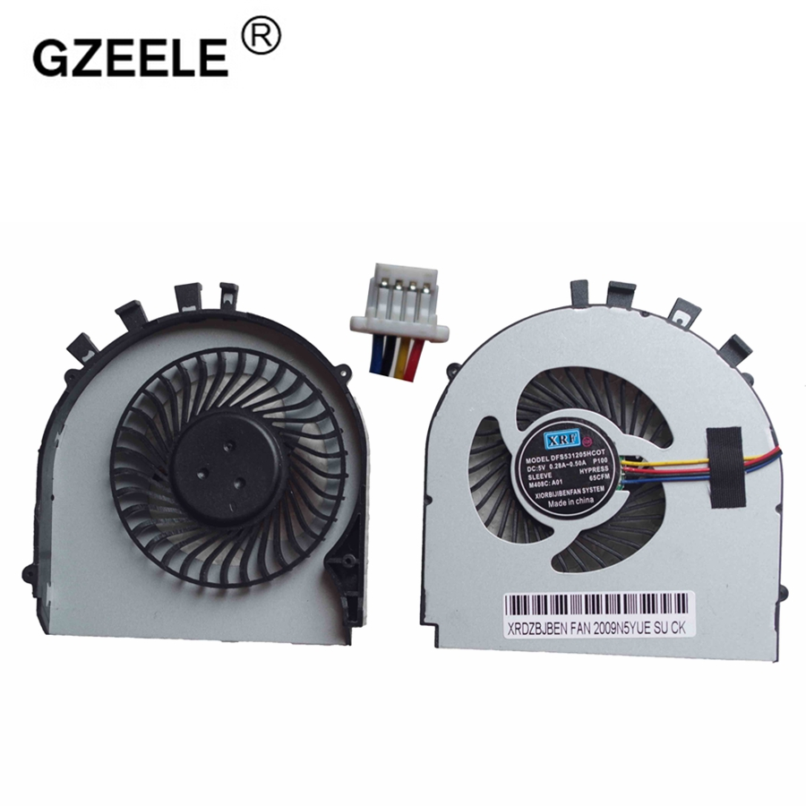 GZEELE New Cpu Cooling Fan For ASUS A450 K450J K450V A450J F450J X450 X450JF K552V A550V A450E A450LC F450 Notebook Cooler 4PIN