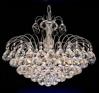Lustres en cristal traditionnels allumant la lampe argentée d'hôtel de luxe de lumière de palais pour la chambre à coucher garantie 100% livraison gratuite 9042-550