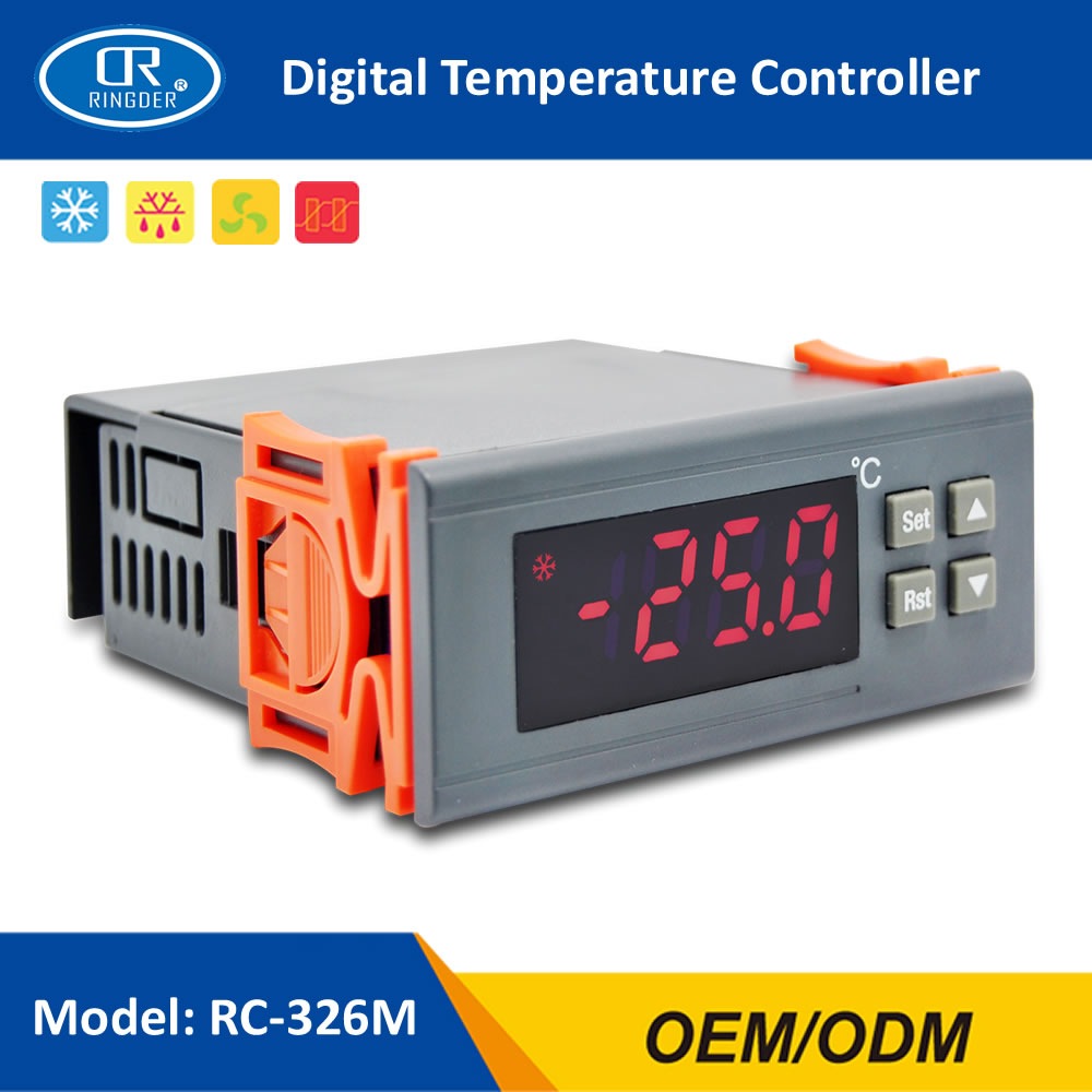 RINGDER RC-326M Refrigeration Temperature Controller Regulator Thermostat Two Sensors Compressor Defrost Fan Function STC-9200 цена 2017