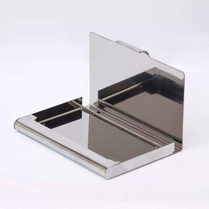 Модный держатель для карт из нержавеющей стали, серебристый алюминиевый чехол для карт, женские бумажники Nueva Vogue, Мужская коробка для ID-Карт...