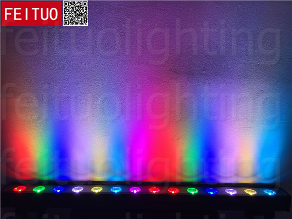 12pack Outdoor holiday projector led wall washer light dmx 14x30w rgb cob led outdoor up down wall washer