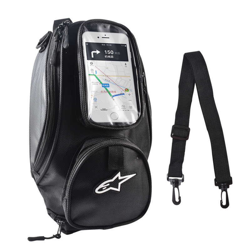 Motorcycle tank bag Oil Fuel Bag Magnetic Moto Saddle Luggage GPS Phone Bag Bigger Window suitcase For iphone Samsung